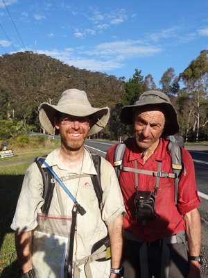 Ian and Yuri at Kurrajong Heights at the end of the Wollemi Traverse