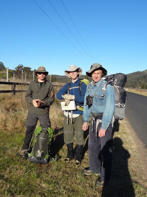 Ian, Rodney and Yuri at the start of the Wollemi Traverse